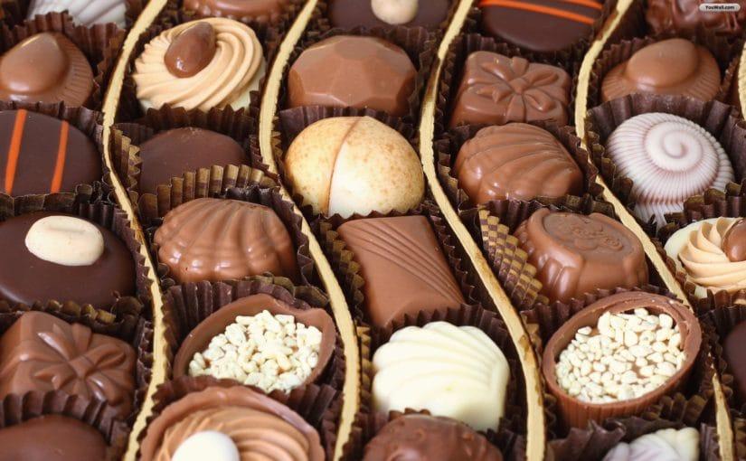 Реклама продажи шоколада