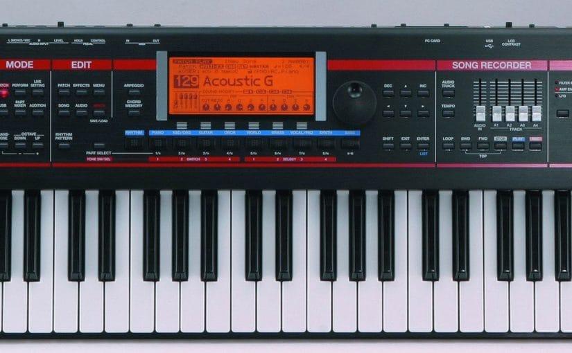 Реклама музыкальных инструментов и синтезаторов