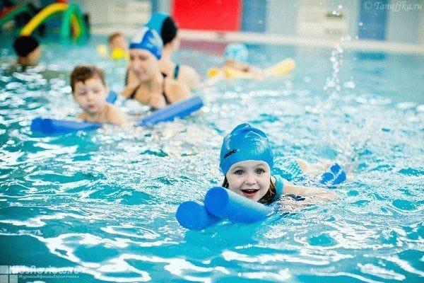 Реклама обучения детского плавания