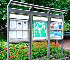 Уличные информационные стенды и щиты